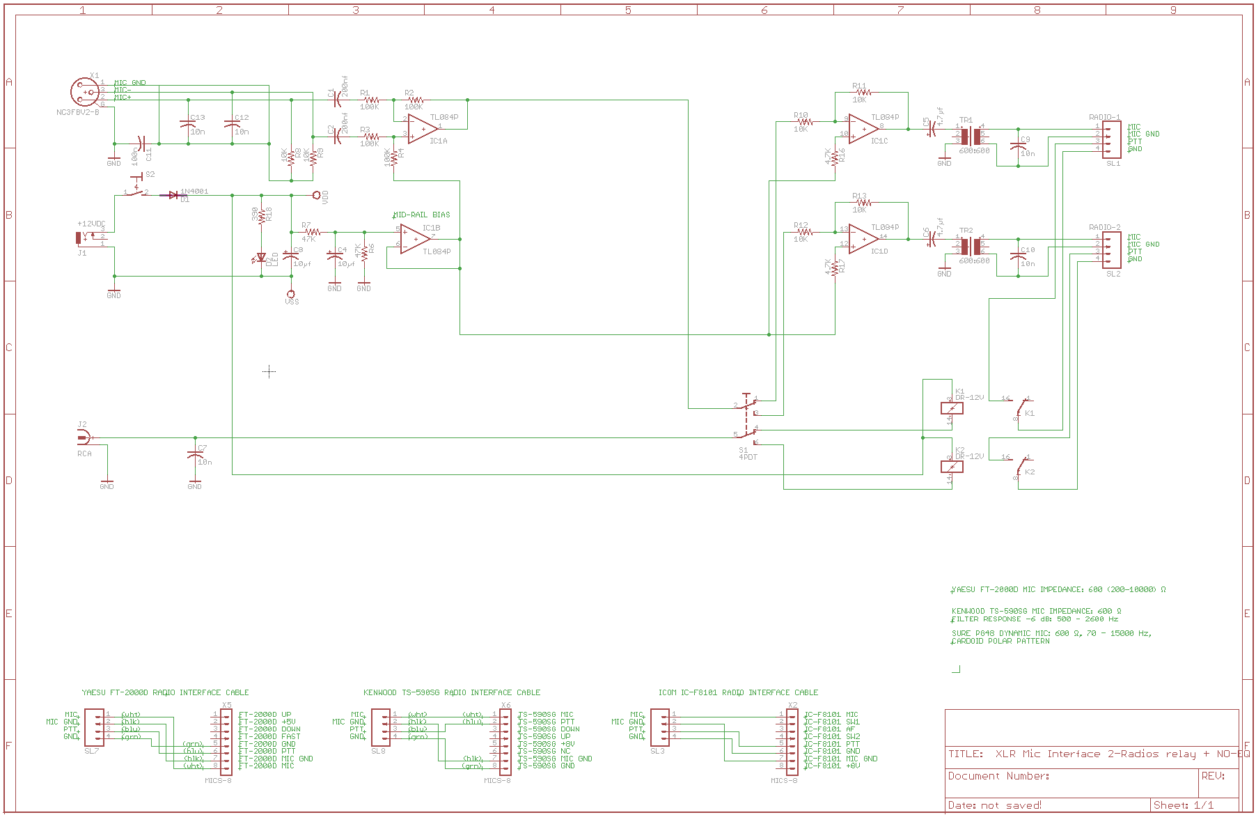 xlr schematic  the above was implemented using a shure pg-48 microphone  with good results  although vox operation is not commonly used with the  author's